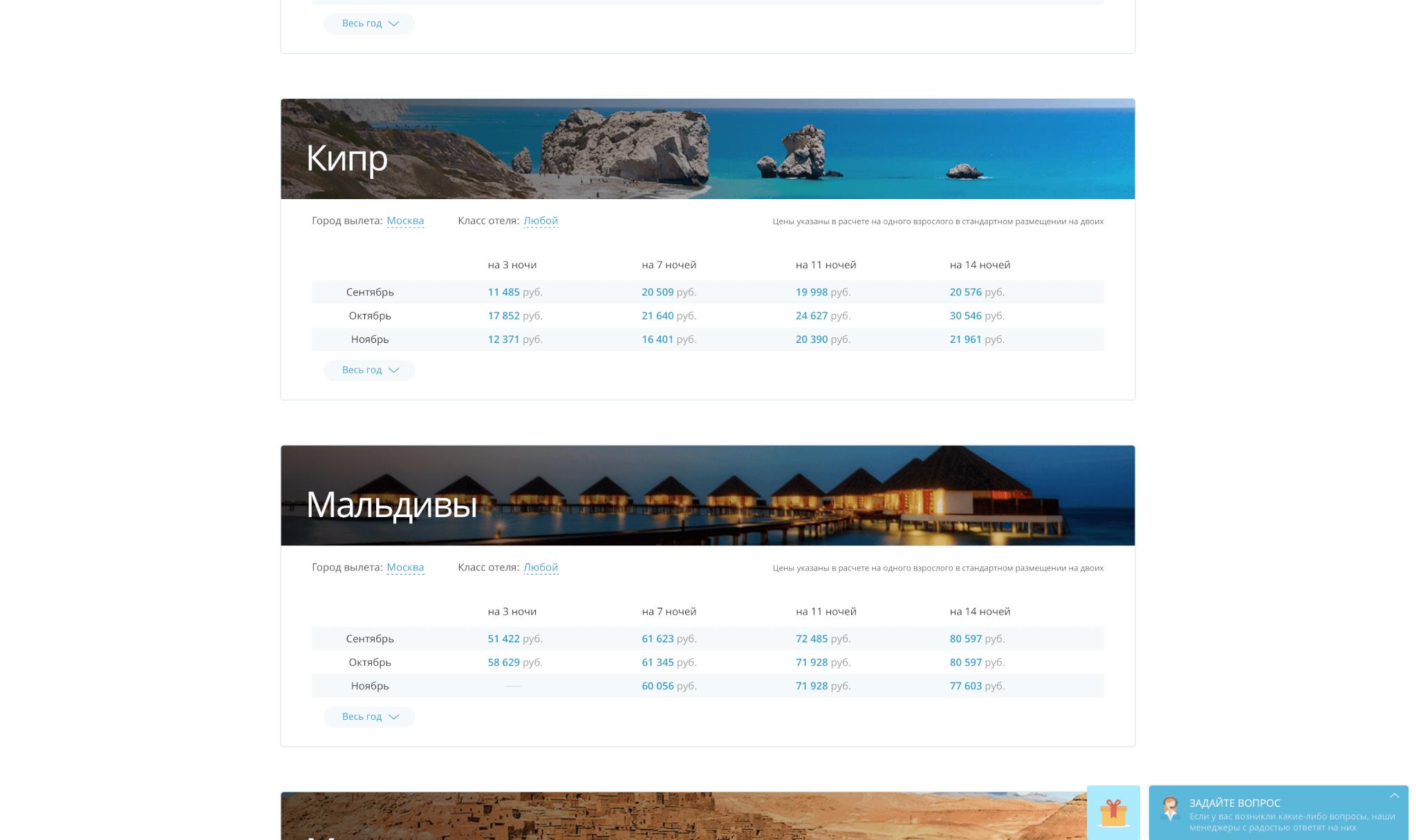 Кипр цены в сентябре