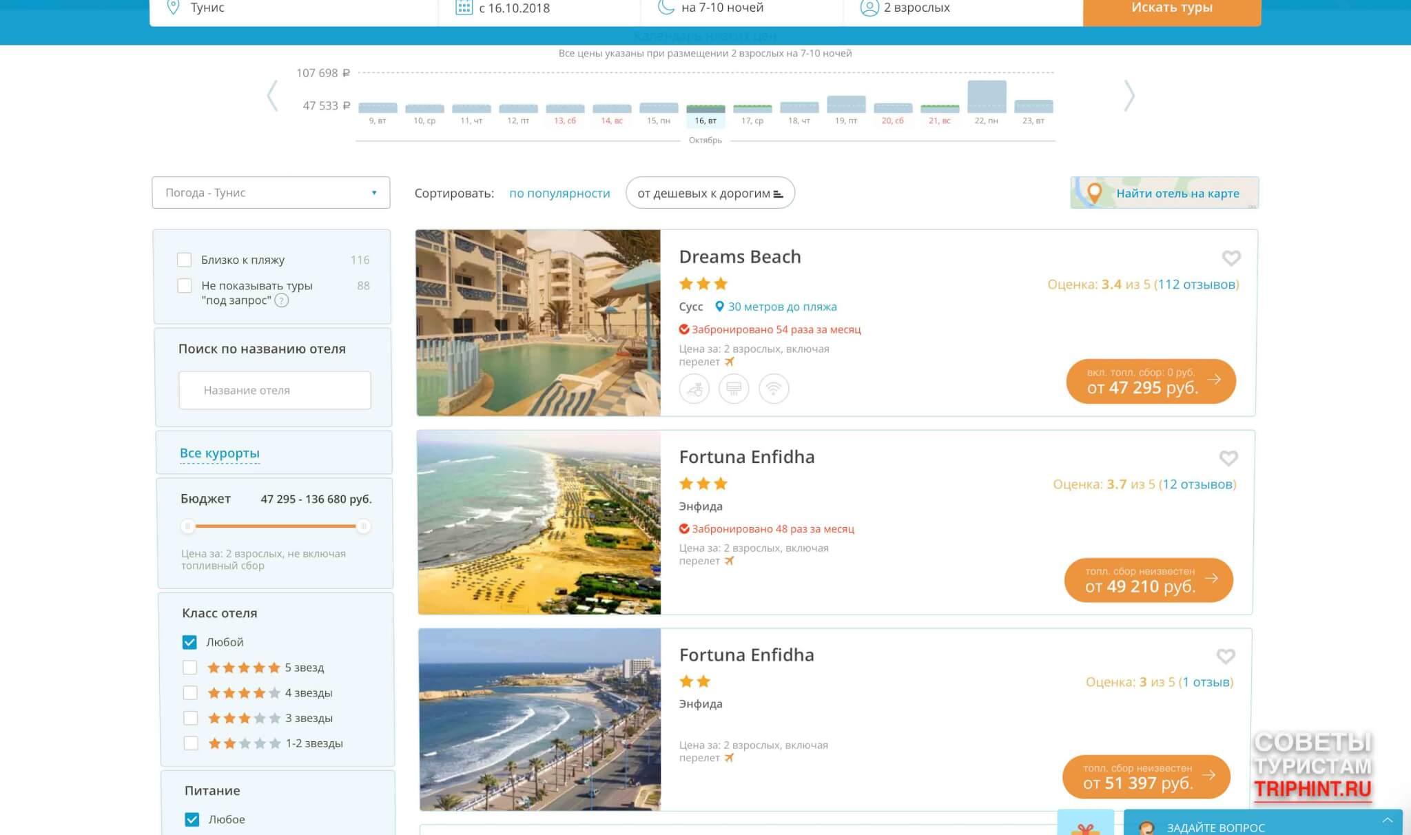 Стоимость туров в Тунис в октябре. Отель Dreams Beach в Сусс, Fortuna Enfidha в Энфида