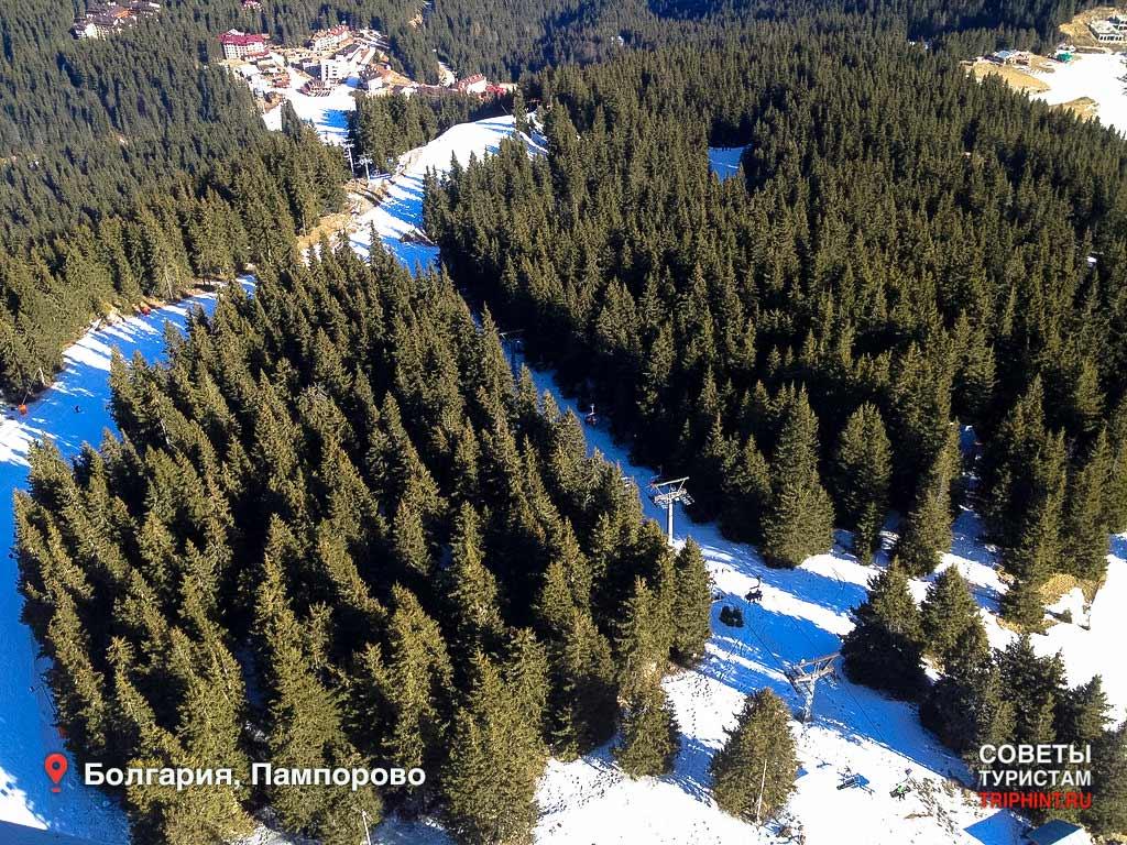 Где отдохнуть на новый год в Болгарии? Трасса для сноубордистов в Пампорово
