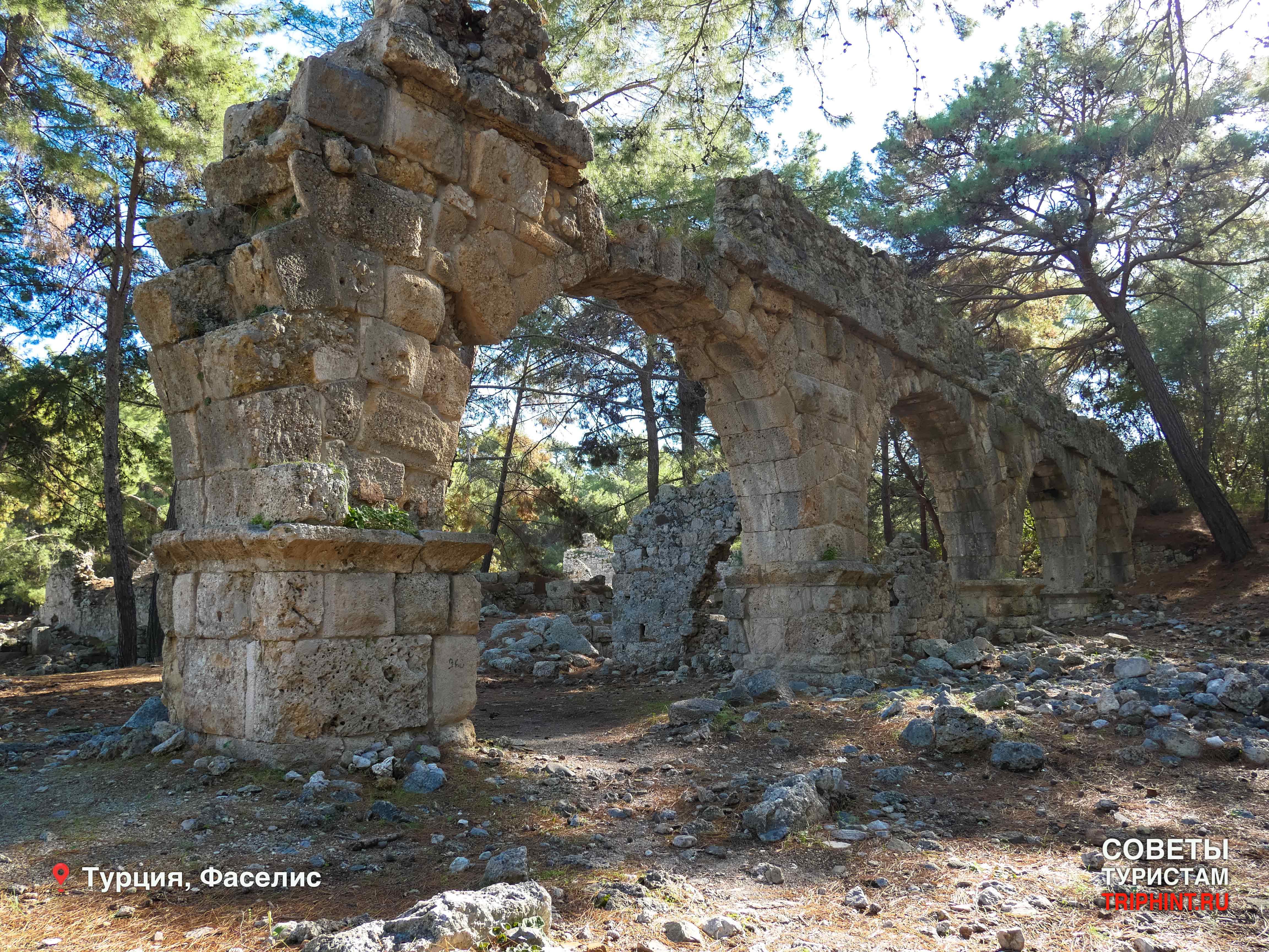 Где отдохнуть на новый год в Турции? Древний город и заповедник Фаселис (акведук)