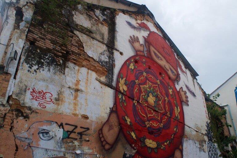 Таиланд, город Пхукет, стрит арт.