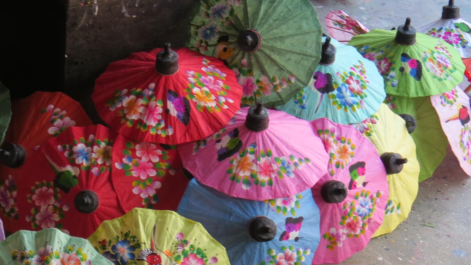Таиланд, зонтики, ручная работа.