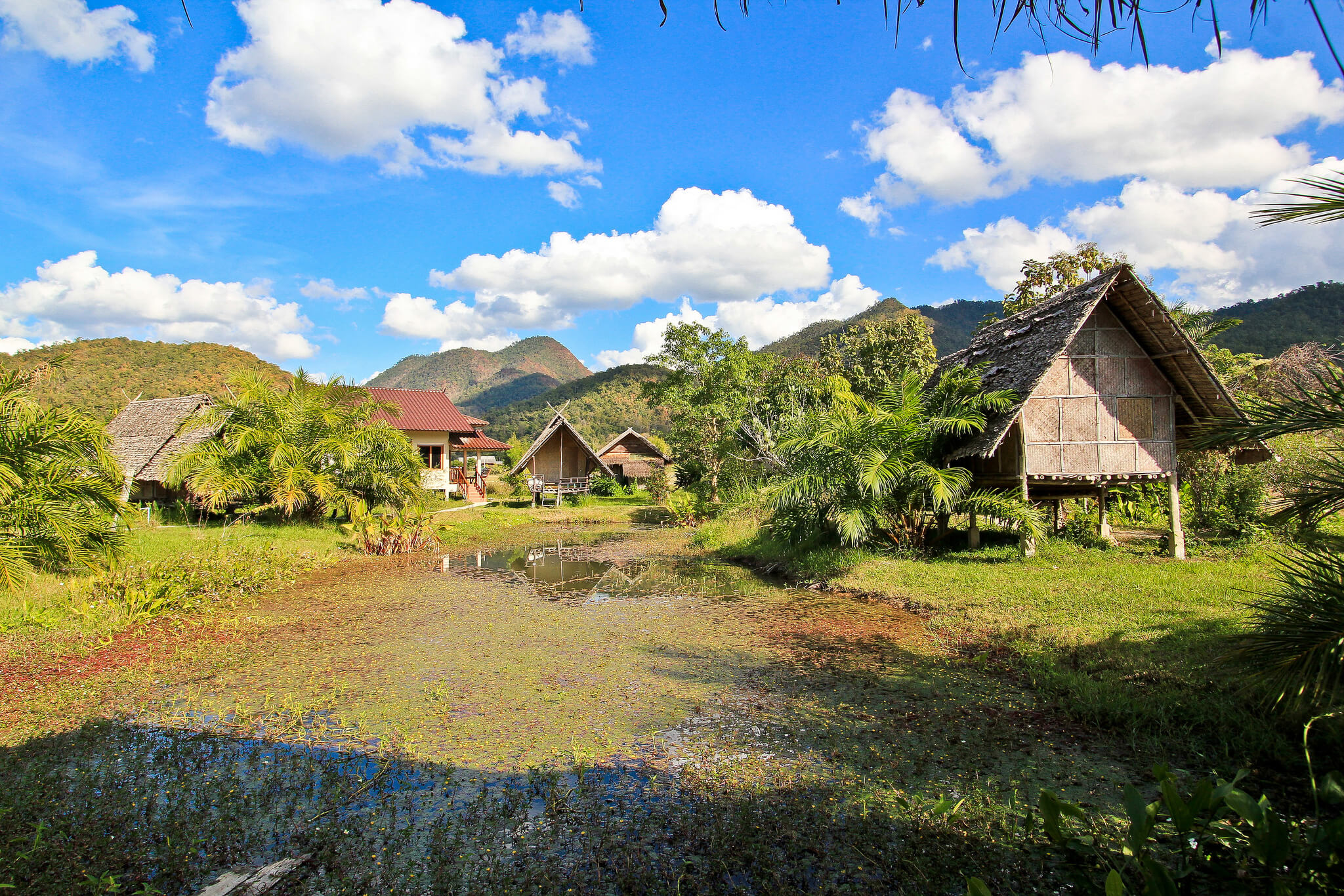 Таиланд, вид на город Пай.