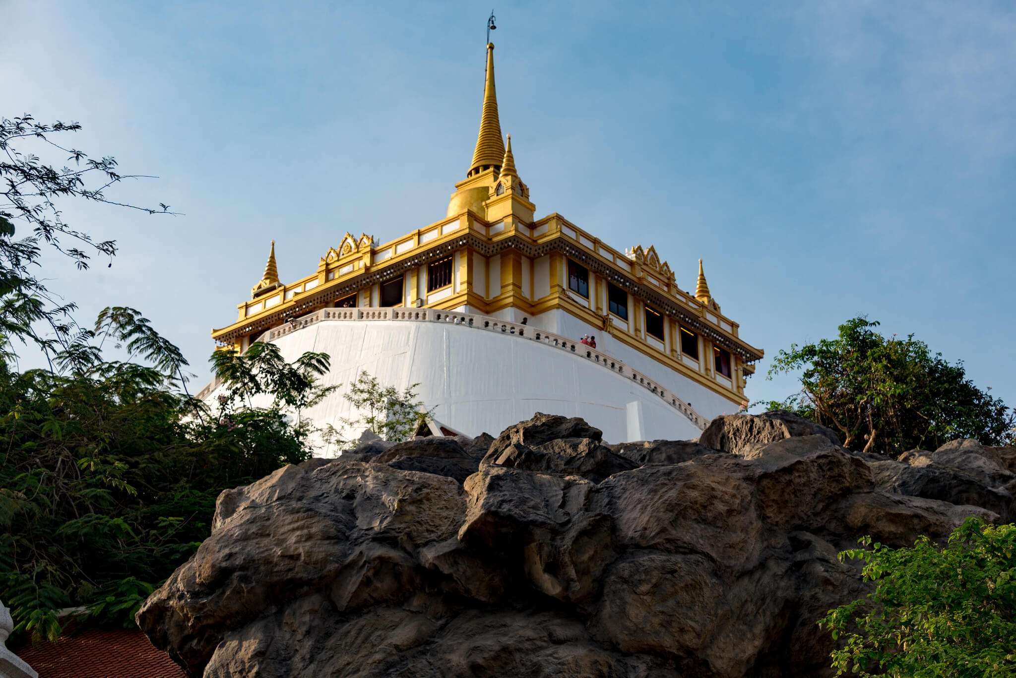 Таиланд, храм Золотой Горы в Бангкоке, Ват Сакет.