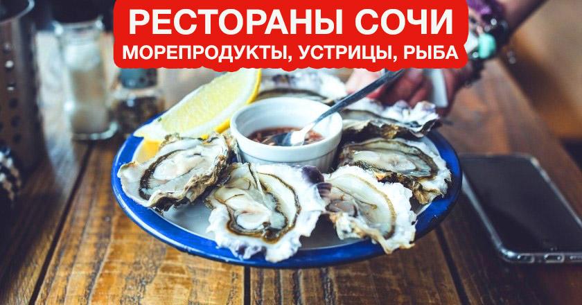 Сочи, гастрономические пабы, устрицы, рыбные рестораны,